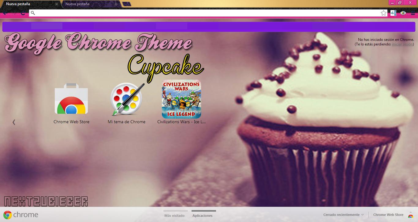 Google chrome theme infinite - Cursorsandmore 85 40 Google Chrome Theme Cupcake By Cursorsandmore