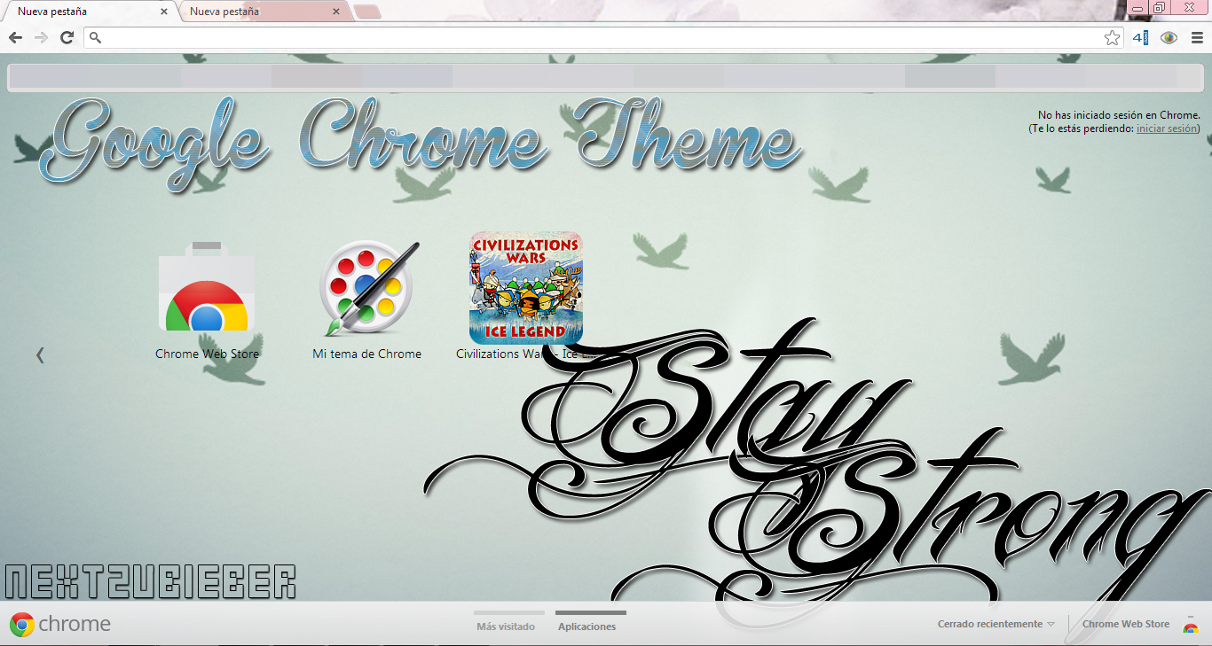 Google chrome theme infinite - Cursorsandmore 23 10 Google Chrome Theme Stay Strong By Cursorsandmore