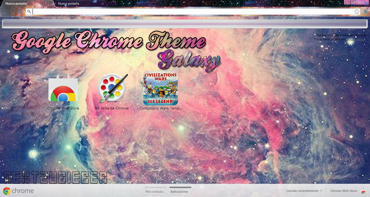 Google themes store - Google Chrome Theme Galaxy By Cursorsandmore