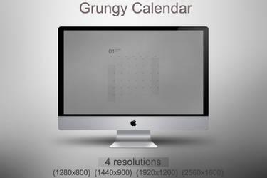 Grungy Calendar all month by kirykid