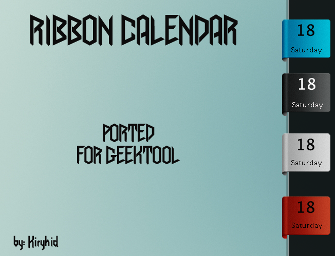 Ribbon Calendar by kirykid