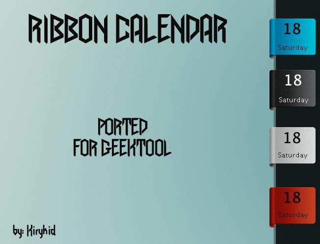 Ribbon Calendar by kirykid