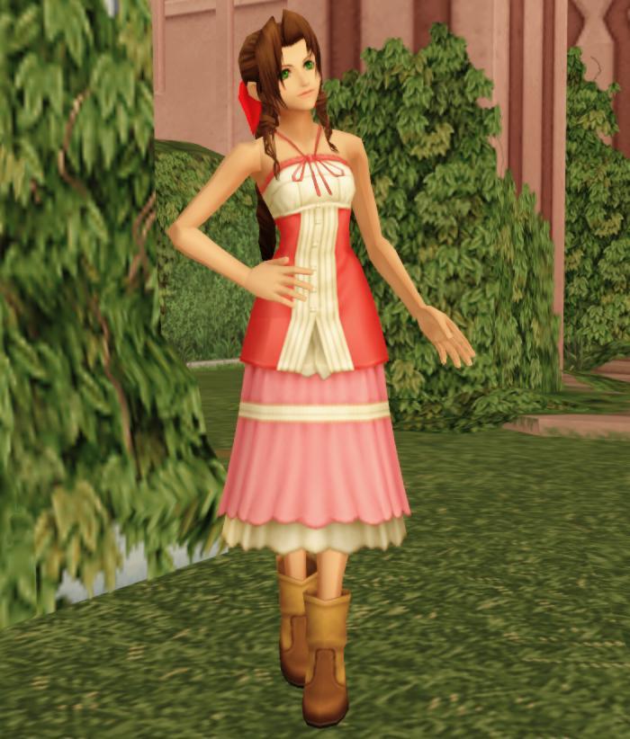 Aeris / Aerith Gainsborough (Kingdom Hearts 2) by Adella