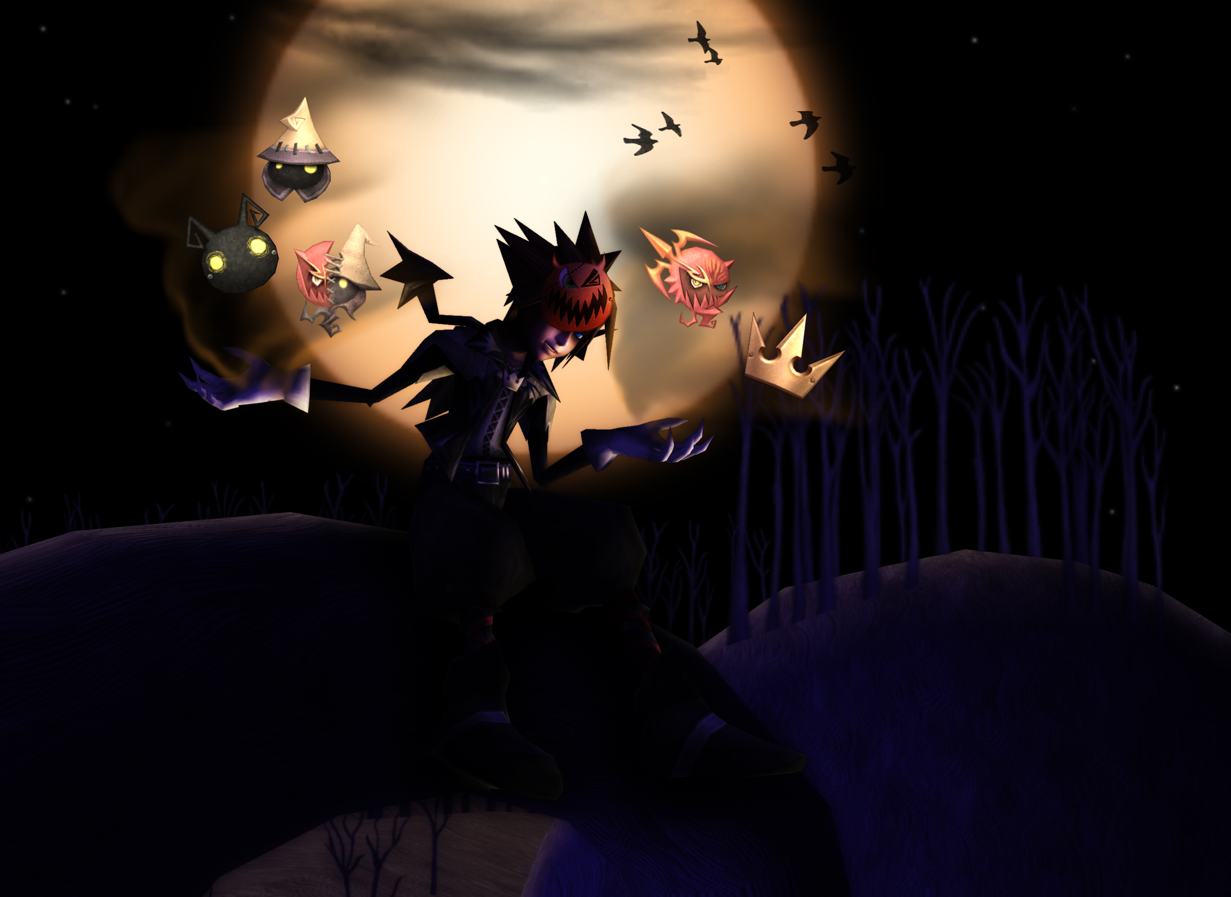 Halloween Town Sora Forms [XPS] by LexaKiness on DeviantArt