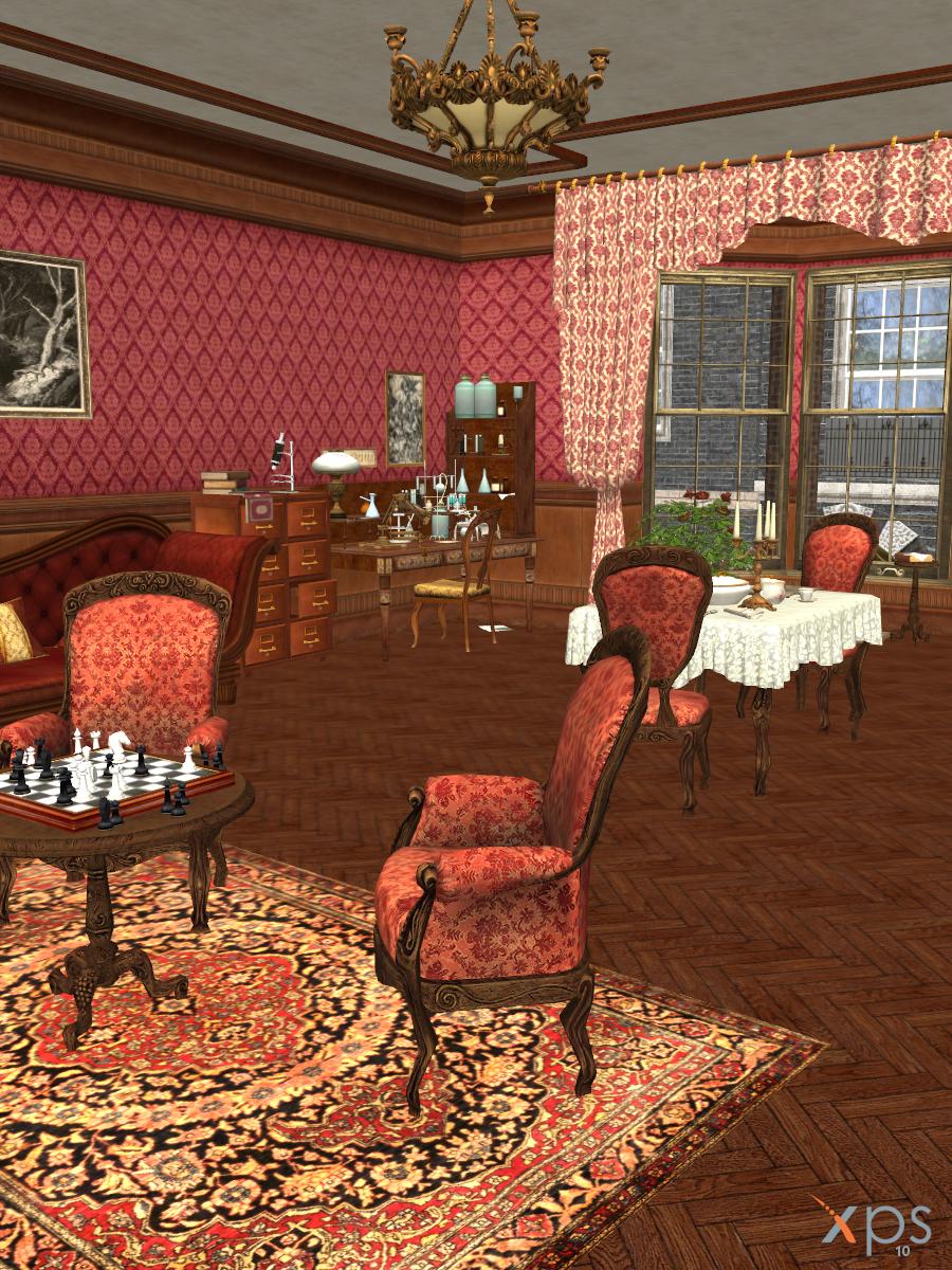 Living Room Baker Street 221b Sherlock Holmes By Lexakiness On Deviantart