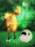 Chocobo and Sheep [XPS]