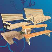Benches [XPS] by LexaKiness