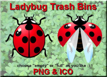 Ladybug Trash Bins