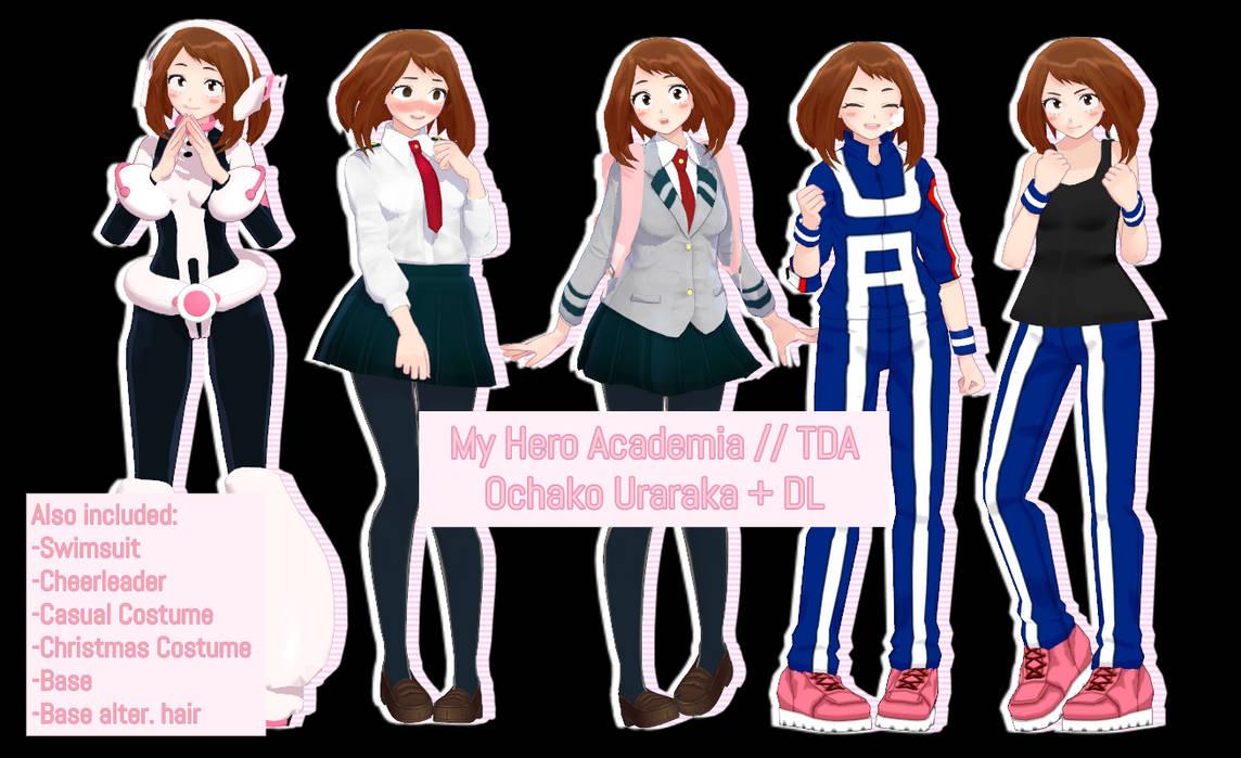 My Hero Academia // TDA Ochako Uraraka + DL UPDATE by HatsuneDKaname