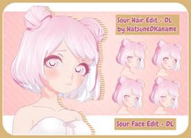Sour Face Edit/Hair Edit + DL Update