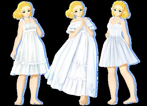 Dresses by HatsuneDKaname + DL