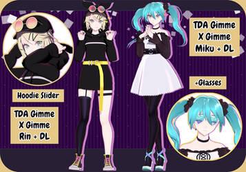 MMD+Gimme X Gimme // TDA Rin+Miku + DL