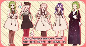 Jibaku Shounen Hanako-kun X MMD // Model pack + DL