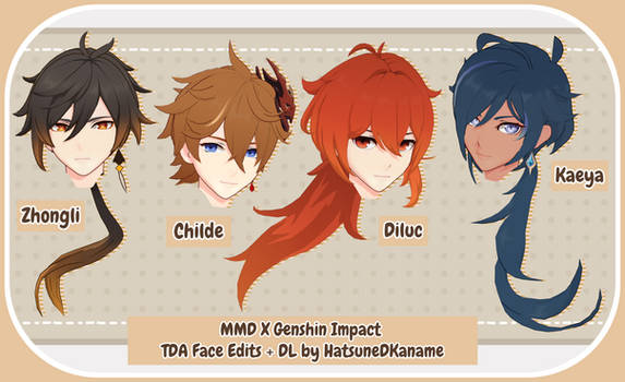 TDAxGenshin Impact Face Edits Pack 2 + DL UPDATE!