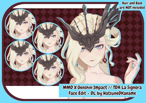 MMD X Genshin Impact // TDA Signora Face Edit + DL