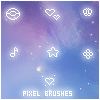 Pixel Brush Set by KuroTennyo