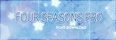 Four Seasons - FONT Download by KuroTennyo