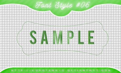 Font Style #06