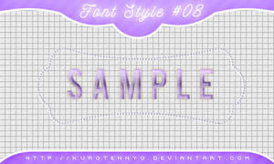 Font Style #08
