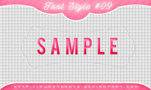 Font Style #09