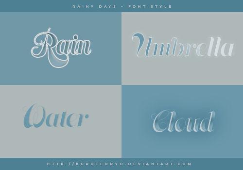 Rainy Days | Font Style #02