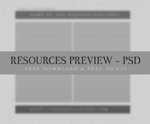 Resources Preview PSD #01