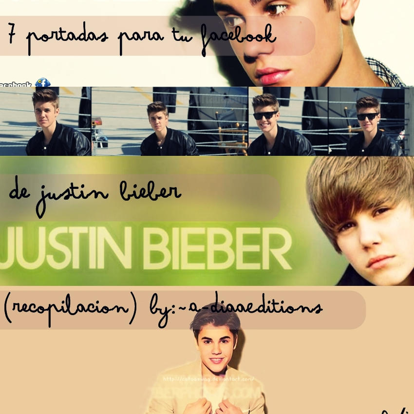 Pack-Portadas para facebook de Justin Bieber by A-DiaaEditions on