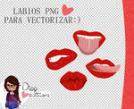 Labios png para vectorizar tus dolls:)