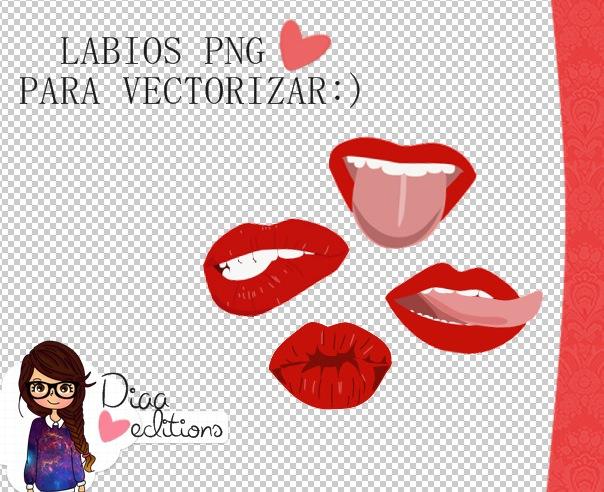 Labios png para vectorizar tus dolls:) by A-DiaaEditions