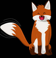Happy Fox (with .svg) by digitalcircuit