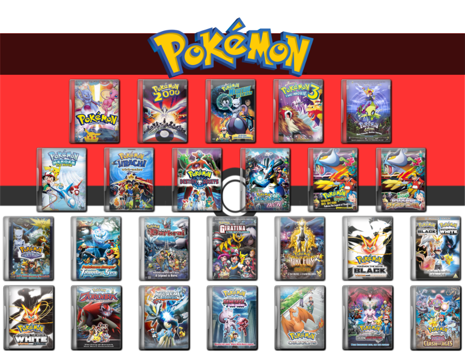 Pokemon Complete Movie Icon Collection 1999 2015 By