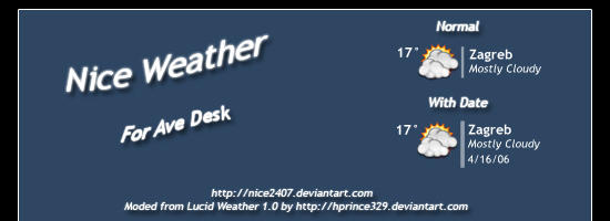 Nice Weather for AveDesk by Nice2407