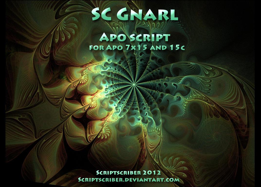 SC Gnarl apophysis script by Scriptscriber