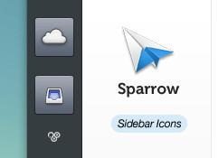 Sparrow Sidebar Icons