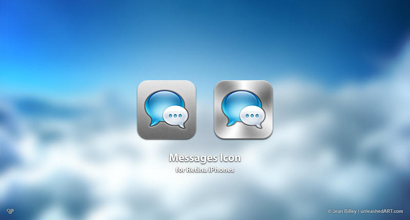 Messages Icon for Retina iPhones by Jean31