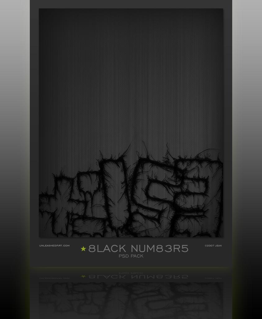 Black Numbers by Jean31