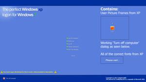The perfect Windows XP logon for Windows 7