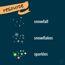 Winter Spray Vectors for Inkscape/Illustrator