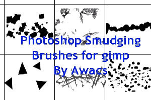 Smudge Brushes by AwacsThunderhead