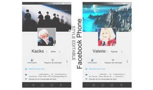 Facebook Template's Phone| editable