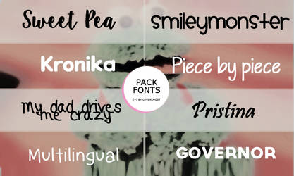 Pack Fonts ( + ) siete