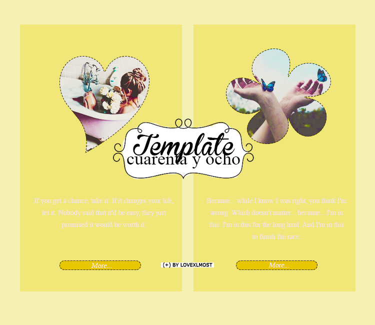 Template 48 ( + ) plantilla editable by lovexlmost