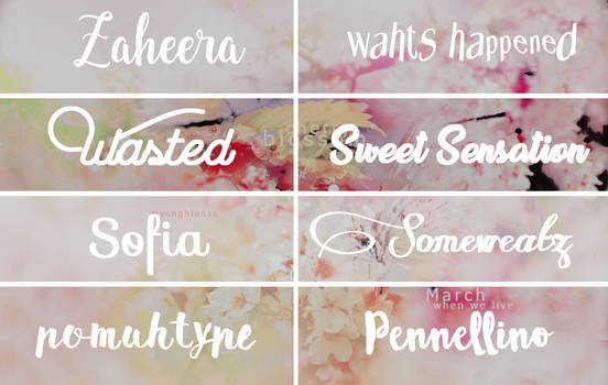 Pack fonts ( + ) 11 by lovexlmost