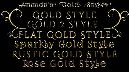 Gold Font Photoshop Styles