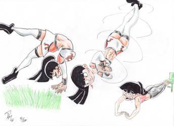 Rhonda's Cheerleading Practice by Da-4th
