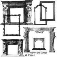 Fire place mantles and mirror by AutumnsGoddess-stox