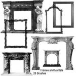 Fire place mantles and mirror