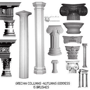 Grecian Pillars Brushes For Cs by AutumnsGoddess-stox