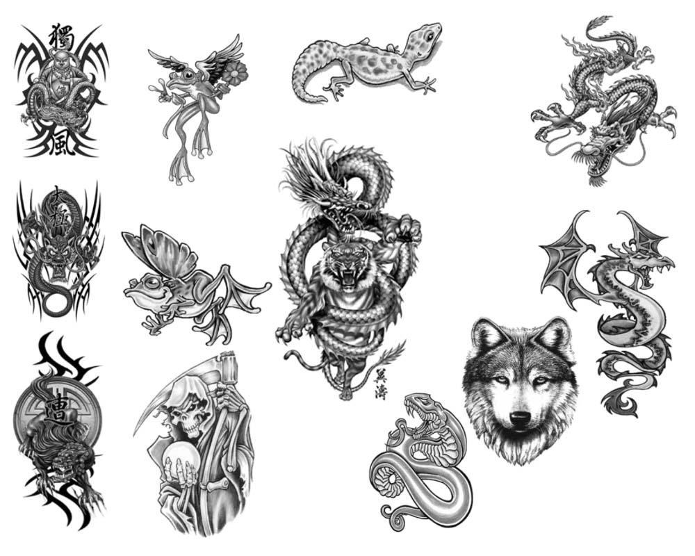 photoshop tattoo brushes pack by rkoyuki on deviantart. Black Bedroom Furniture Sets. Home Design Ideas