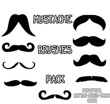 Mustache Brushes Pack by Stridorks
